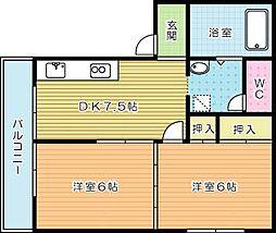 メゾン本田[201号室]の間取り