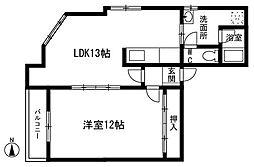ライラック薬院[3階]の間取り