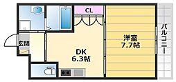 スイートレジデンスKOBAYASHI 1階1DKの間取り
