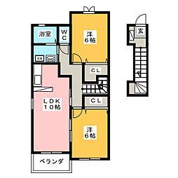 オリオンハイムⅡ[2階]の間取り