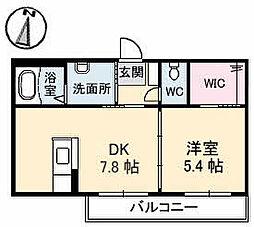 グランラシュレ B棟[2階]の間取り