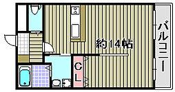 ルミー羽倉崎[105号室]の間取り