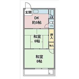愛知県名古屋市守山区小幡中2丁目の賃貸アパートの間取り