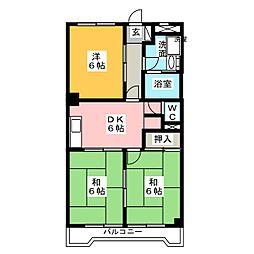 メゾングリーンヒル[3階]の間取り