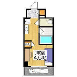 キャンパスヴィレッジ京都西京極[3階]の間取り