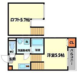 Osaka Metro谷町線 守口駅 徒歩11分の賃貸アパート 1階1Kの間取り