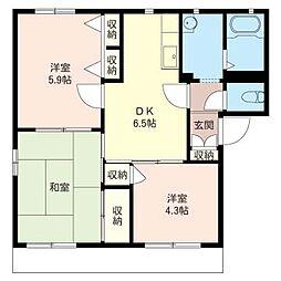 ポパイハウス[1階]の間取り