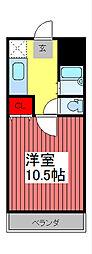 アーケティックマンションII[1階]の間取り
