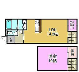 メゾネットSakura[1階]の間取り