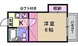 クリスタ山科[108号室号室]の間取り