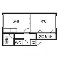 YKマンション[102号室]の間取り