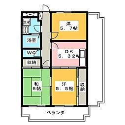 ファミール棚瀬[2階]の間取り