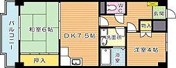 陣山スカイマンション[5階]の間取り