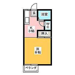 アビタシオンサンアイ[2階]の間取り