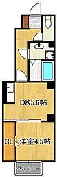 北九州都市モノレール小倉線 北方駅 徒歩8分の賃貸アパート 1階1DKの間取り