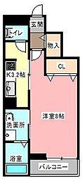 リバーサイド桜坂[3階]の間取り