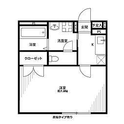 アンプルール フェール ヨシノ[203号室]の間取り