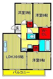 リビングタウン南青山A・B・C[A301号室]の間取り