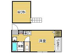 ビオス室見[2階]の間取り