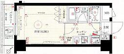 JR山手線 大塚駅 徒歩7分の賃貸マンション 6階1Kの間取り