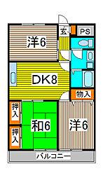 長澤マンション[1階]の間取り