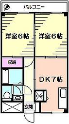 ティエイハウス[3階]の間取り