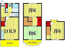 [テラスハウス] 東京都足立区島根2丁目 の賃貸【/】の間取り