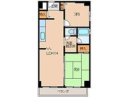 マンションポローニア[3階]の間取り