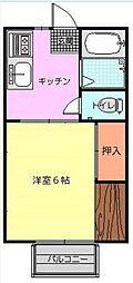 神奈川県海老名市上今泉5丁目の賃貸アパートの間取り