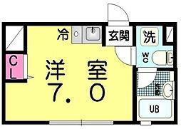 東京都豊島区西池袋3丁目の賃貸アパートの間取り