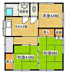 [一戸建] 静岡県三島市初音台 の賃貸【/】の間取り