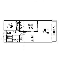 戴慶カーサグラシア[11階]の間取り
