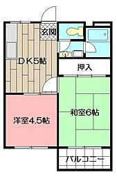 コーポSEKI[105号室]の間取り