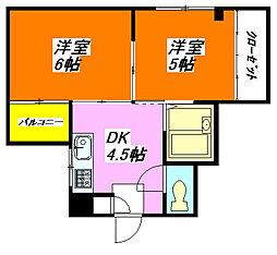 コーポ・K 203号室[2階]の間取り