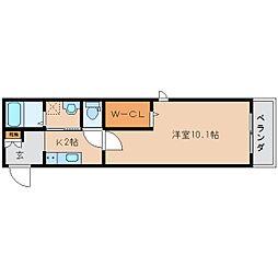 静岡鉄道静岡清水線 草薙駅 徒歩7分の賃貸マンション 1階1Kの間取り