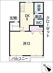 タウニー竜美東[1階]の間取り