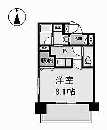 レーベスト志賀本通[2階]の間取り