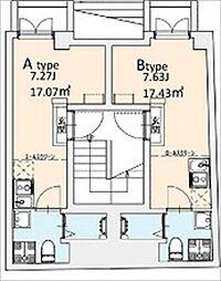 東京メトロ千代田線 湯島駅 徒歩2分の賃貸マンション 5階ワンルームの間取り