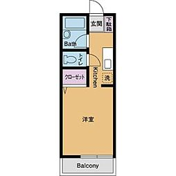 サニーハイツHASE[2階]の間取り