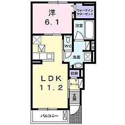 萱場アパート[1階]の間取り