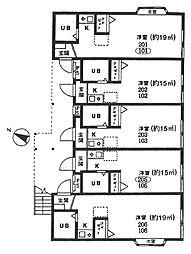 大栄コーポ[105号室]の間取り