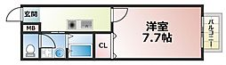 プレジール加納[1階]の間取り