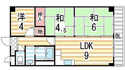 ハイムM&K鴻池[202号室]の間取り