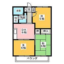 シュライン南門II[2階]の間取り