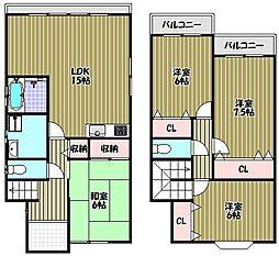 [一戸建] 大阪府堺市中区深阪4丁 の賃貸【/】の間取り