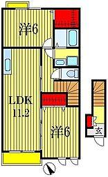 千葉県船橋市馬込西3丁目の賃貸アパートの間取り