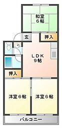 東洋マンション[5階]の間取り