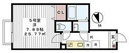 リロアン新松戸[105号室号室]の間取り