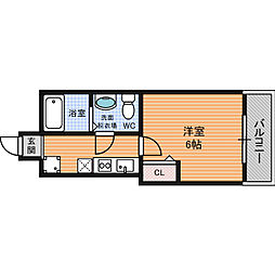 Osaka Metro堺筋線 北浜駅 徒歩4分の賃貸マンション 8階1Kの間取り