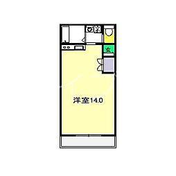 イルヴェール鴨部[3階]の間取り